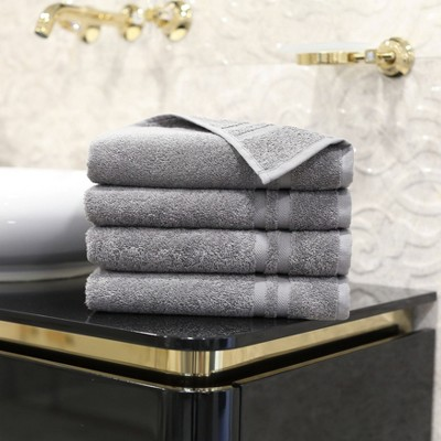 4pk Denzi Turkish Hand Towel Dark Gray - Linum Home Textiles