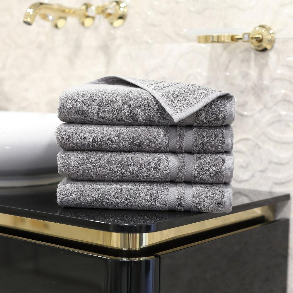 4pk Denzi Turkish Hand Towel Dark Gray Linum Home Textiles