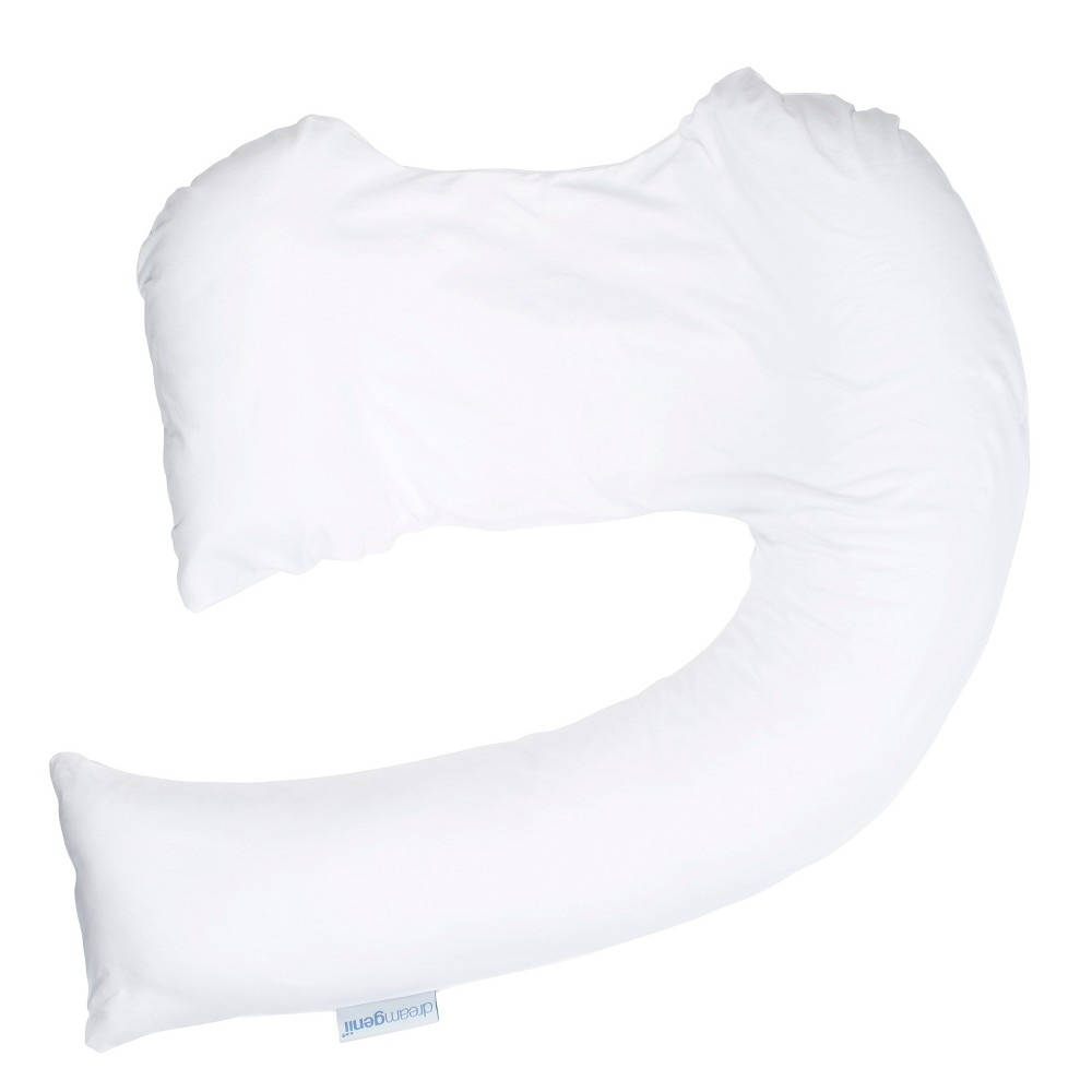 Dr. Brown's Dreamgenii Pregnancy Sleep Support Pillow 2-in-1 Cotton Jersey Cover - White