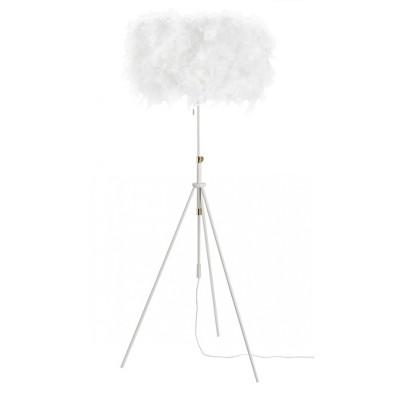 "69"" White Feather Adjustable Tripod Floor Lamp - Nourison"