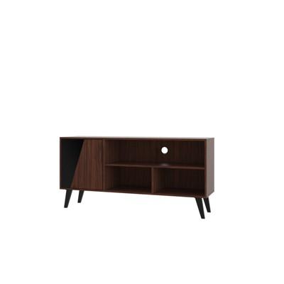 53.14  Hogan TV Stand with 4 Shelves Dark Brown - Manhattan Comfort