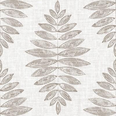 4'x5' Set of 20 Foliage Peel & Stick Floor Tiles Light Brown - Brewster