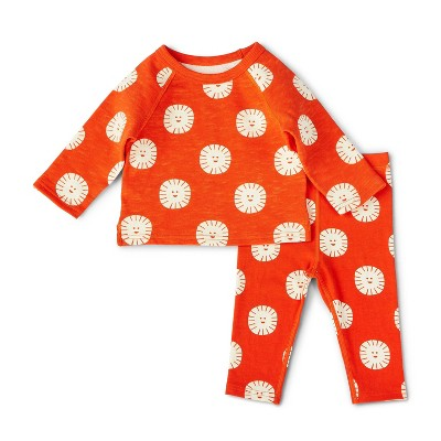 Baby Adaptive Sun Print Top & Bottom Set - Christian Robinson x Target Orange