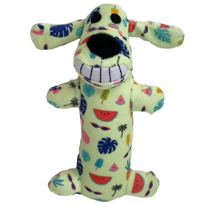 """Multipet Loofa with Fruit Print Dog Toy - Yellow - 6"""""""
