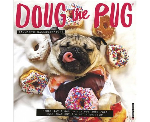 Doug the Pug 2019 Calendar -  (Paperback) - image 1 of 1