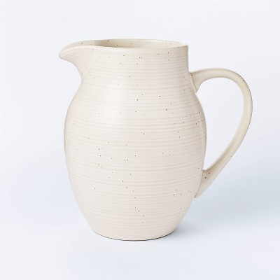 77.8oz Stoneware Large Glazed Pitcher Cream - Threshold™ designed with Studio McGee