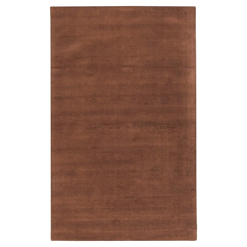 Brown Solid Loomed Area Rug - (5'X8') - Surya, Dark Brown