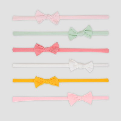 Baby Girls' 6pk Bow Headwrap - Just One You® made by carter's