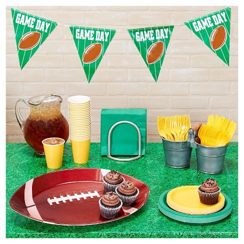 Football Tailgate Green & Gold Party Kit - image 1 of 1