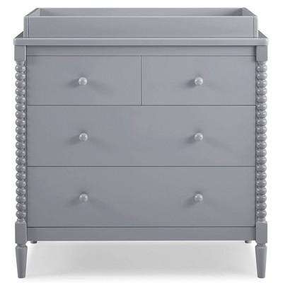 Delta Children Saint 4 Drawer Dresser with Changing Top- Bianca Gray