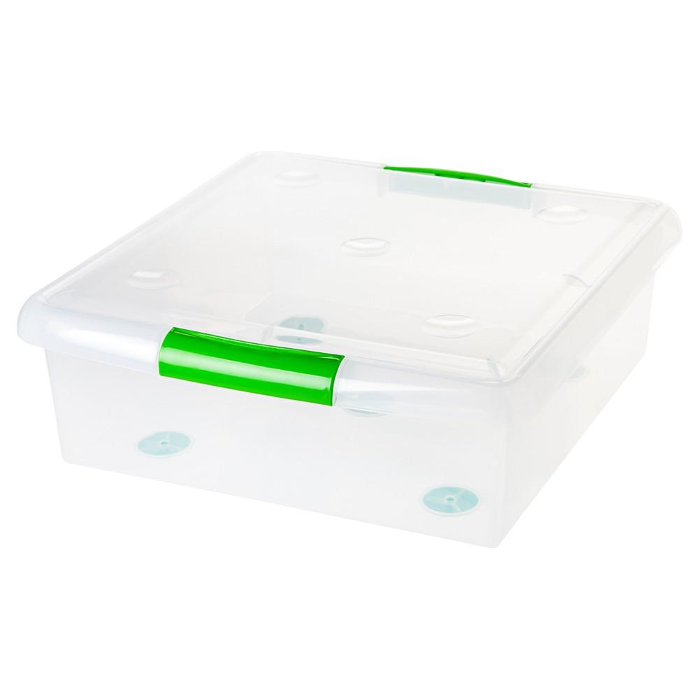 Image of IRIS 25 Qt. Sliding Plastic Storage Bin - 6pk