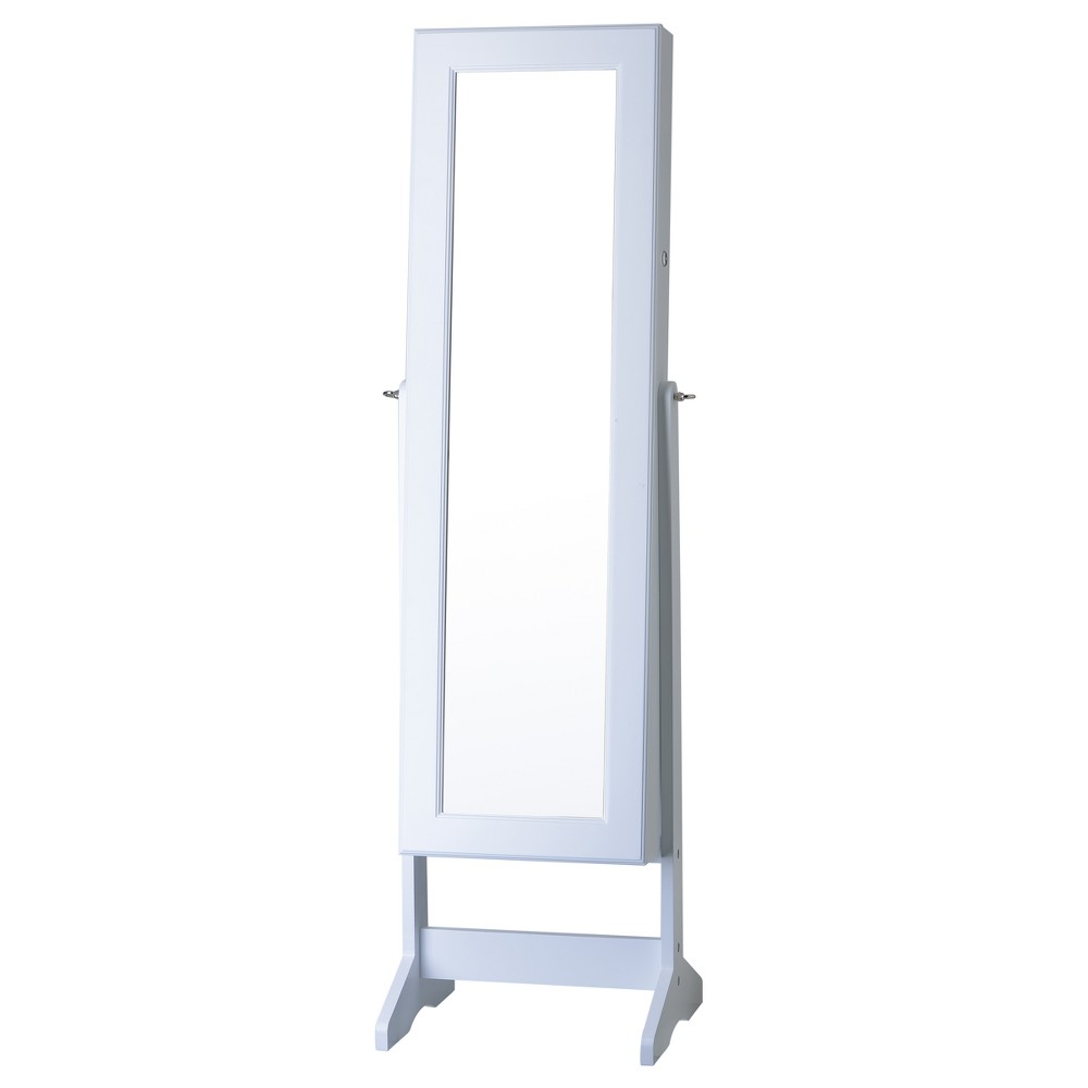 Cheval Free Standing Jewelry Armoire White - FirsTime