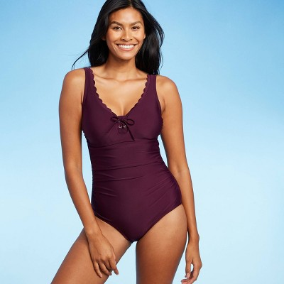 Women's Grommet Scallop Classic One Piece Swimsuit - Kona Sol™