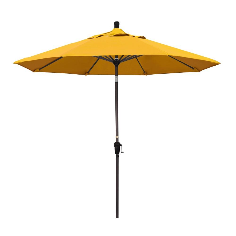 9' Aluminum Auto Tilt Crank Patio Umbrella - Yellow Pacifica