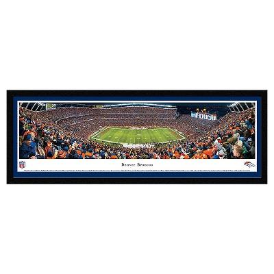 NFL Blakeway Stadium 50 Yard Line View Select Framed Wall Art - Denver Broncos