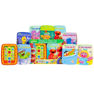 Pi Kids Sesame Street Sesame Stories to Grow On Electronic Me Reader Jr. 8-Book Library Boxed Set