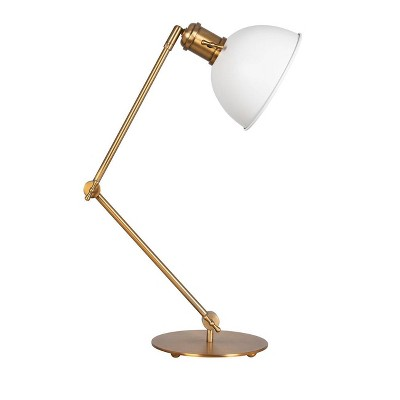 Metal Desk Lamp Antique Brass - Threshold™