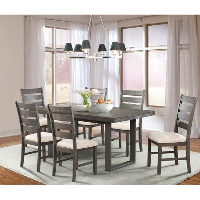 Sullivan 7pc Dining Set Table And 6 Side Chairs Dark Ash - Picket House Furnishings