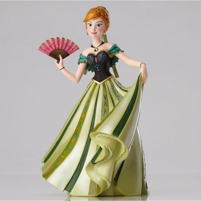 """Disney 8"""" Green and Pink Frozen Anna Couture De Force Tabletop Figurine"""