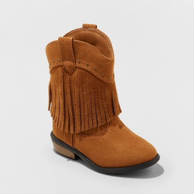 Toddler Girls' Mahogany Western Boot   Cat & Jack™ Brown by Cat & Jack