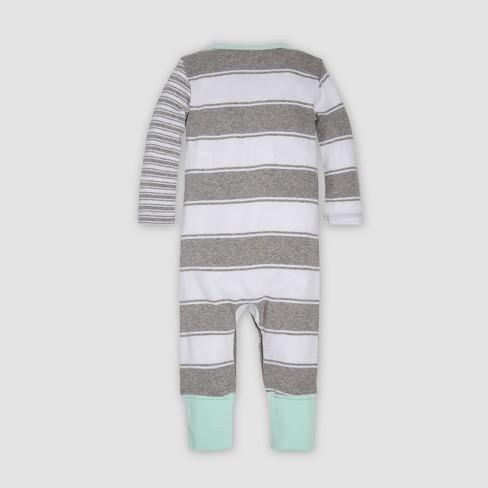 Burt s Bees Baby® Baby Organic Cotton Peace Stripe Blocked Coverall   Cap  Set - Heather Gray. Shop all Burt s Bees Baby 659be350d5c0
