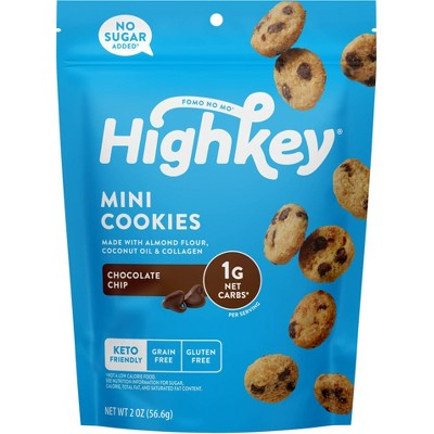 HighKey Chocolate Chip Mini Cookies - 2oz