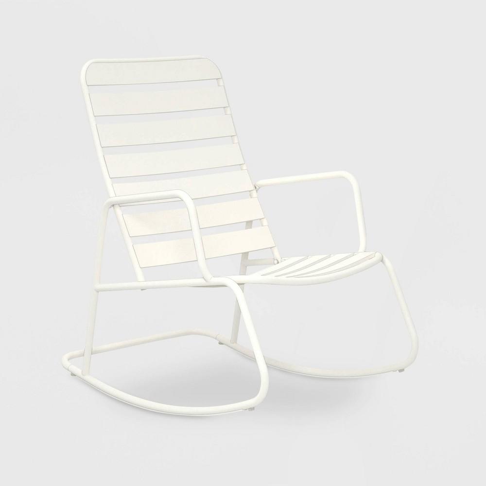 Roberta Patio Rocking Chair - White - Novogratz