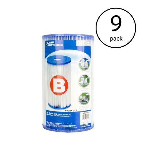 Intex Swimming Pool Easy Set Type B Replacement Filter Pump Cartridge (9 Pack) - image 1 of 4