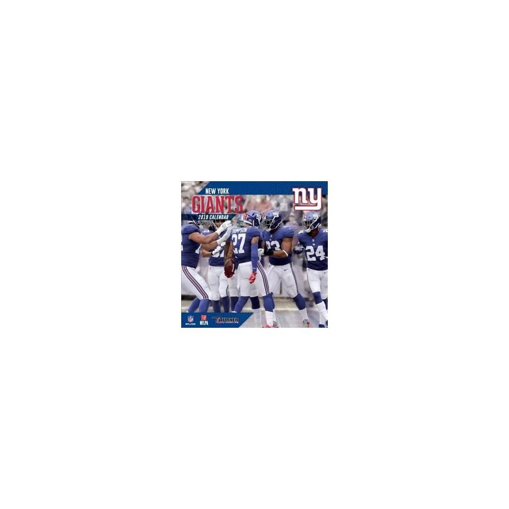 New York Giants 2019 Calendar - (Paperback)