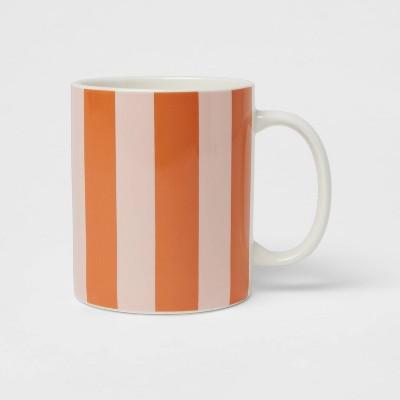 15oz Stoneware Stripes Mug Pink - Room Essentials™