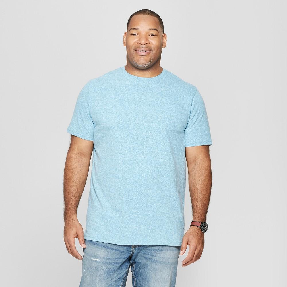 Men's Big & Tall Standard Fit Short Sleeve Novelty Crew T-Shirt - Goodfellow & Co Hawaiian Blue 2XB