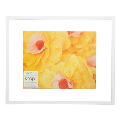 "16"" x 20"" Float To 11"" x 14"" Frame White - Gallery Solutions"
