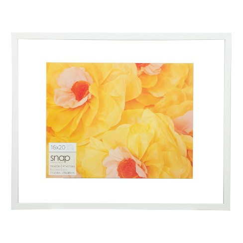 """16"""" x 20"""" Float To 11"""" x 14"""" Frame White - Gallery Solutions - image 1 of 4"""