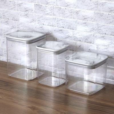 Lakeside Airtight Kitchen Canister Storage Set - Countertop Organizer - Set of 3