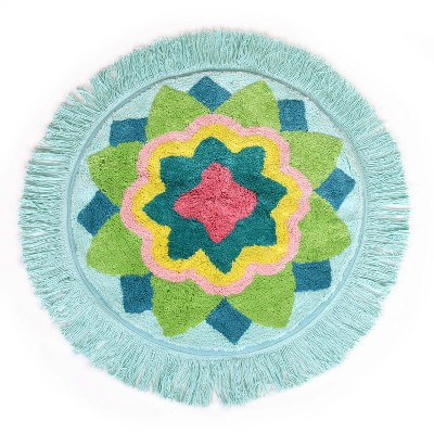 Ariel Medallion Bath Rug Green - Allure Home Creations