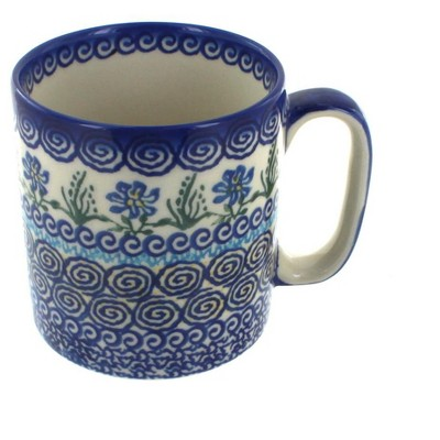 Blue Rose Polish Pottery Charleston Coffee Mug