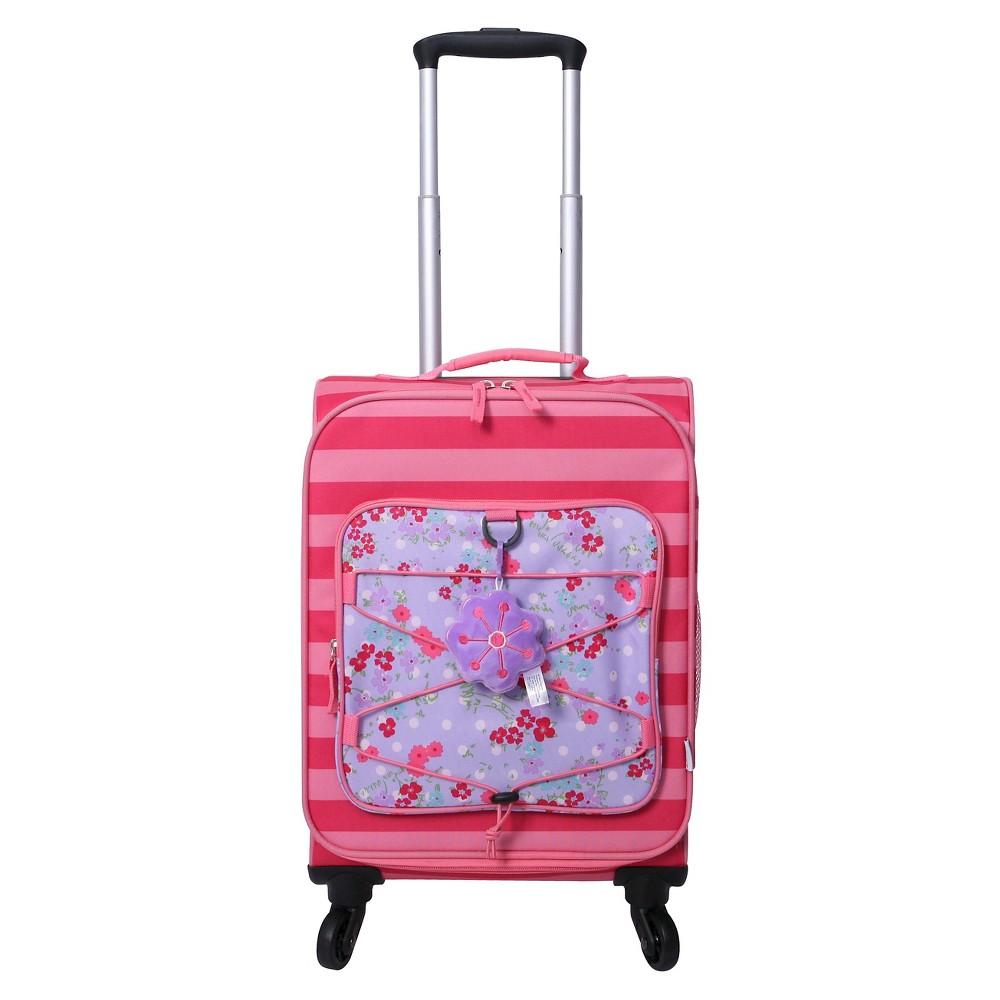 Crckt 19.5 Spinner Carry On Suitcase - Pink Stripe Floral