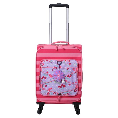"Crckt 19.5"" Spinner Carry On Suitcase - Pink Stripe Floral - image 1 of 8"