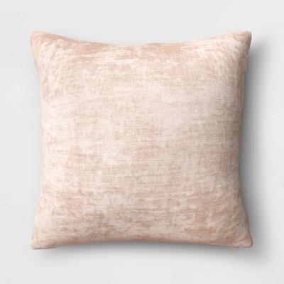 Velvet Square Throw Pillow Neutral - Threshold™