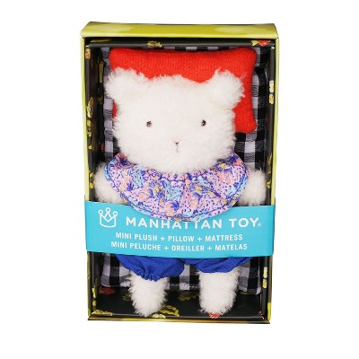 Manhattan Toy Little Nook Lily Cat Stuffed Animal with Removable Clothing, Sleeping Bag & Keepsake Box