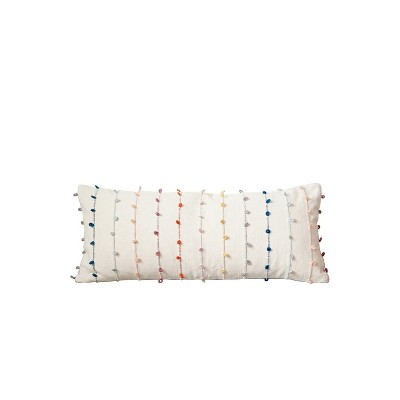 Cotton Throw Pillow with Embroidery Loop - 3R Studios