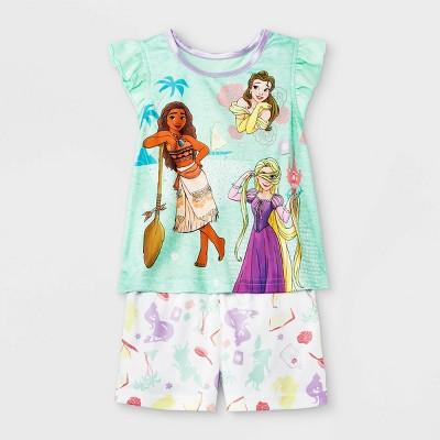 Toddler Girls' Disney Princess Pajama Set - Green