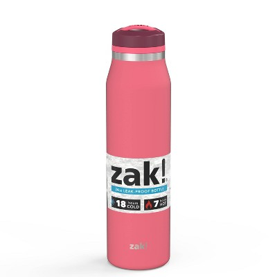 Zak! Designs 24oz Chug Vacuum Insulated Double Wall Stainless Steel Water Bottle