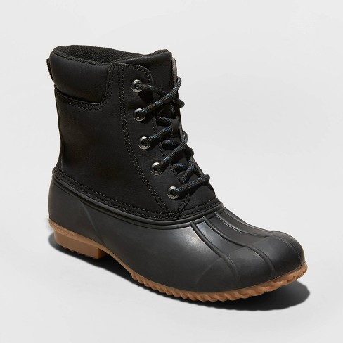 Women's Amaya Faux Leather Duck Fashion Boots - Universal Thread™ - image 1 of 3
