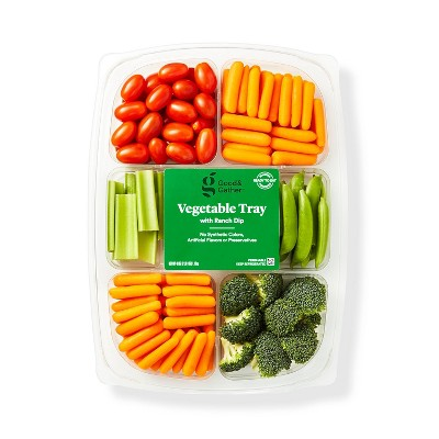 Vegetable Tray with Ranch Dip - 40oz - Good & Gather™