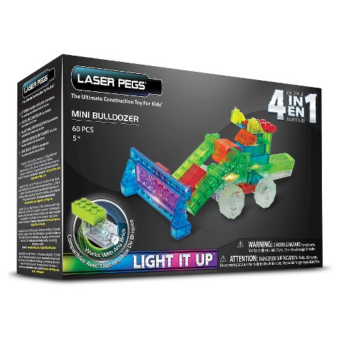 Laser Pegs 4 in 1 Mini Bulldozer Lighted Construction Toy - image 1 of 4