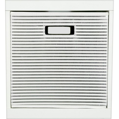 Stripe KD Toy Storage Bin Silver - Pillowfort™ - image 1 of 2