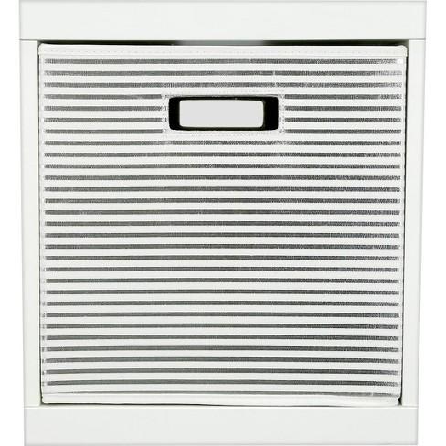 Stripe KD Toy Storage Bin Silver - Pillowfort™ - image 1 of 2
