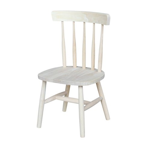 Kids' Chair Set Unfinished Brown - International Concepts - image 1 of 4