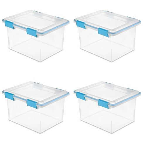 Sterilite 19334304 32 Quart Gasket Box with Clear Base and Lid (4 Pack) - image 1 of 2